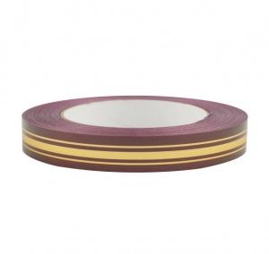 Лента глянцевая с золотой полосой 2 см (112 вишневый)