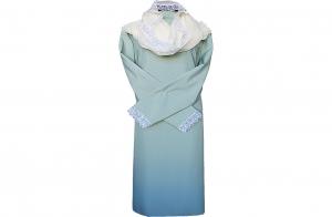 Платье женское габардиновое с капором и кружевом ( в ассортименте)