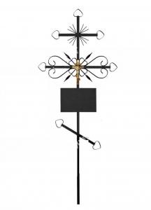 Крест Б металлический №2