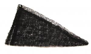 Косынка черная с кружевом В.С.