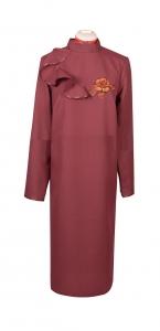 Платье с воланом (габардин), арт. 62.12